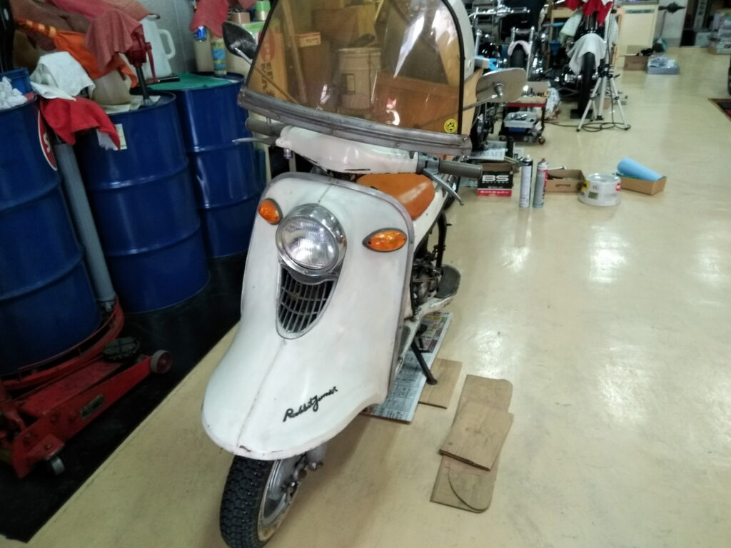 ラビットスクーター修理
